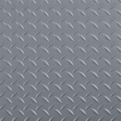 RaceDay 12 in. x 12 in. Peel and Stick Diamond Tread Slate Grey Poly Vinyl Tile (20 sq. ft. / case)