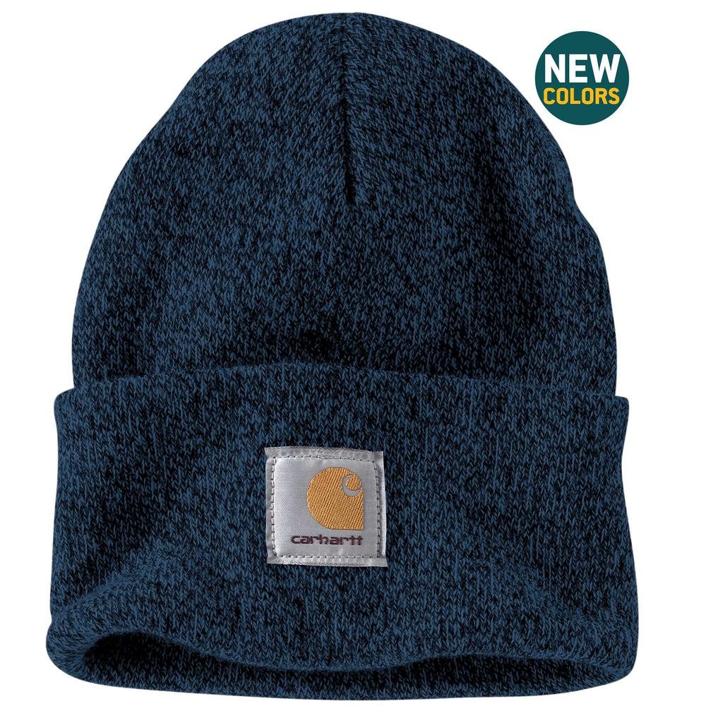 bac33c086b6 Carhartt Men s OFA Dark blue Navy Acrylic Watch Hat-A18-492 - The ...