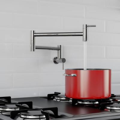 Wall Mount Potfiller in Polished Stainless Steel