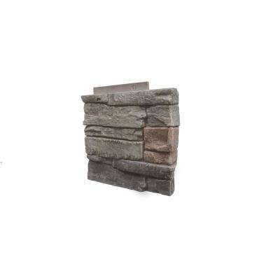 Stacked Stone Kenai 12 in. x 1.375 in. x 12 in. Faux Stone Siding Right Corner Panel