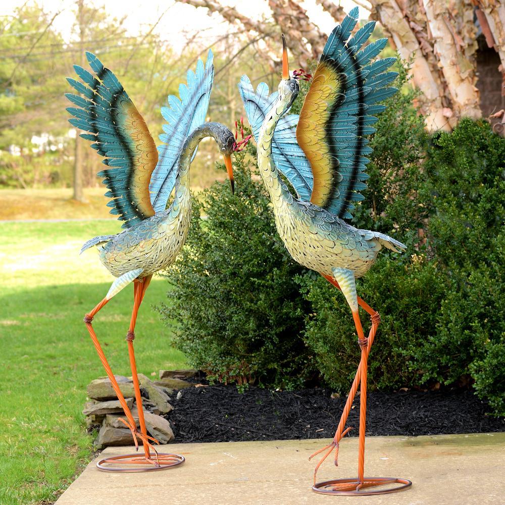 Large Iron Dancing Cranes (2-Set)