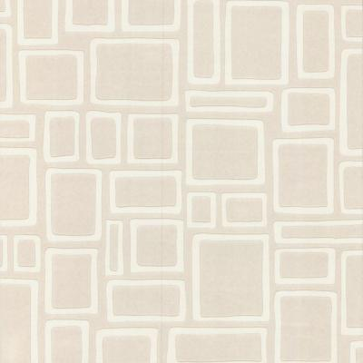 Squares Paintable White Wallpaper