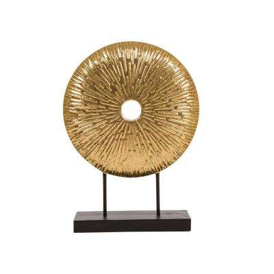 17.7 in. H Gold Accent Sunburst Tabletop Decor