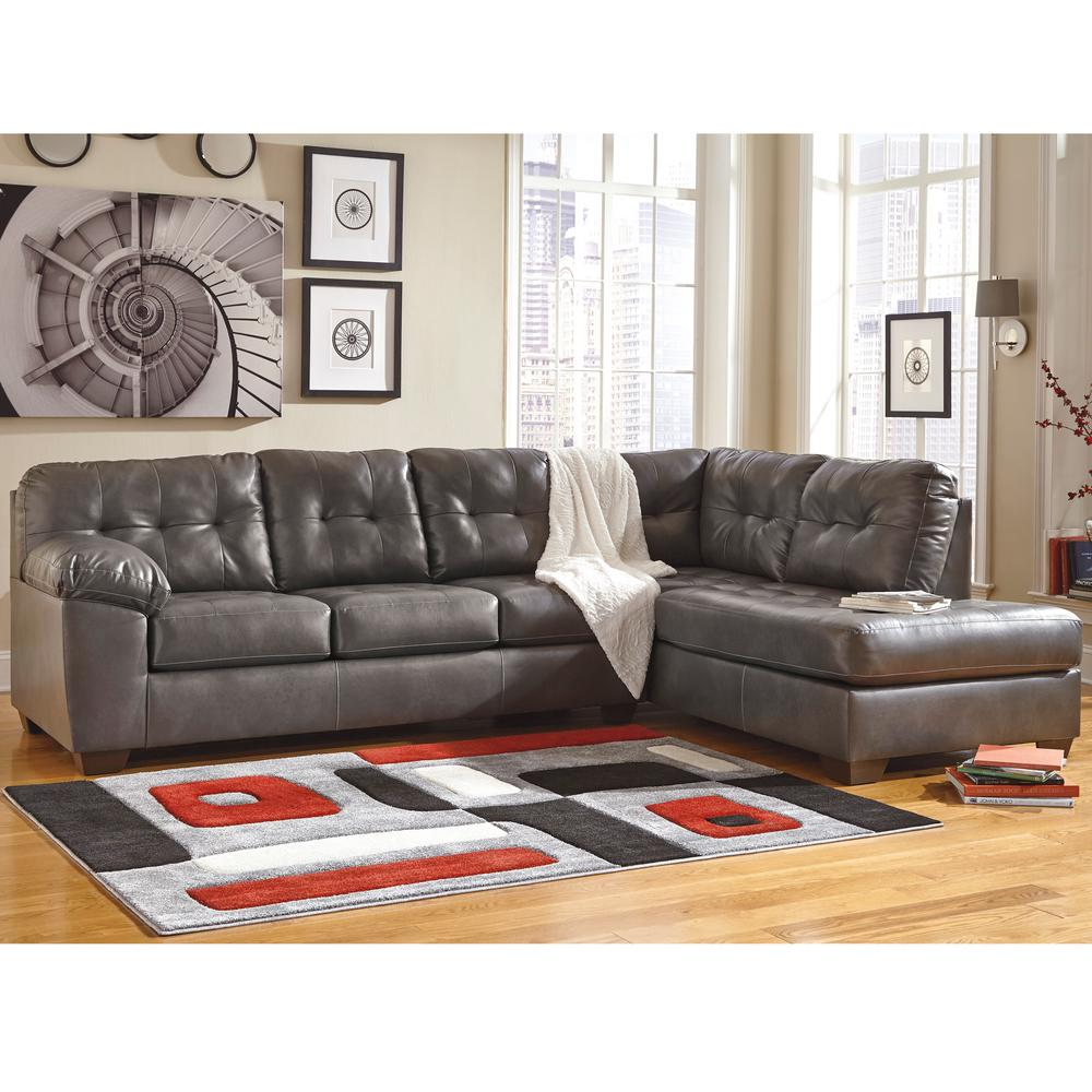 Ashley Furniture Sectionals: Flash Furniture Signature Design By Ashley Alliston Gray