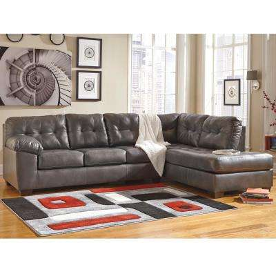Signature Design by Ashley Alliston Gray DuraBlend Sectional with Right Side Facing Chaise