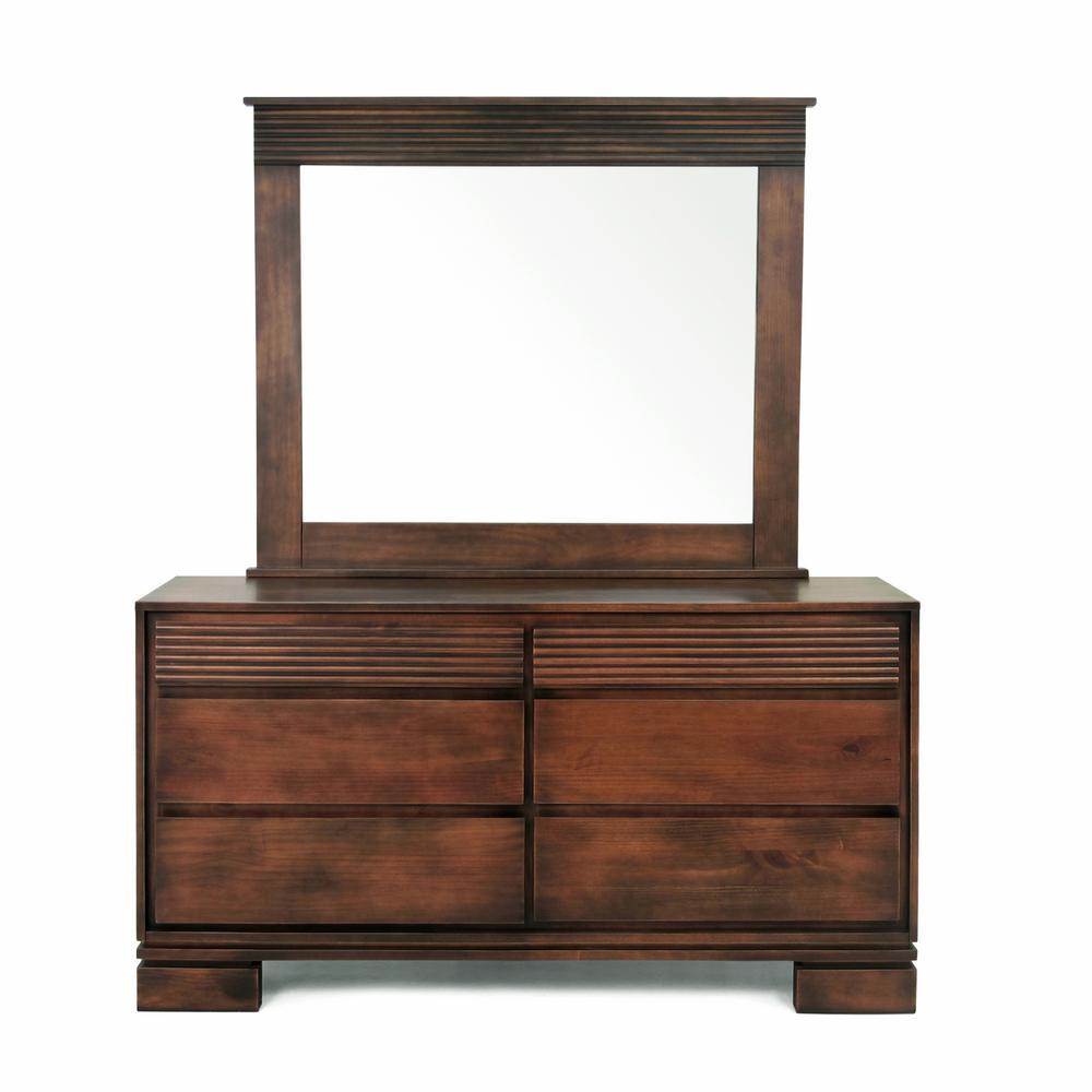 Vienna 6-Drawer Cinnamon (Red) Dresser