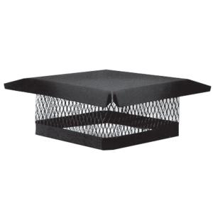 13 in. x 13 in. Galvanized Steel Fixed Chimney Cap in Black