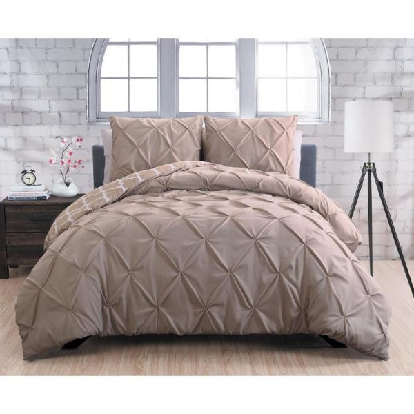 Avondale Manor Madrid Taupe King 3-Piece Duvet Set MRD3DVKINGGHTA