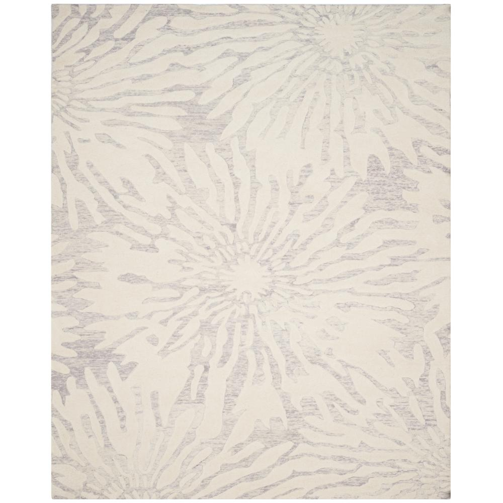 28c98f449 Safavieh Bella Silver Ivory 8 ft. x 10 ft. Area Rug-BEL129A-8 - The ...