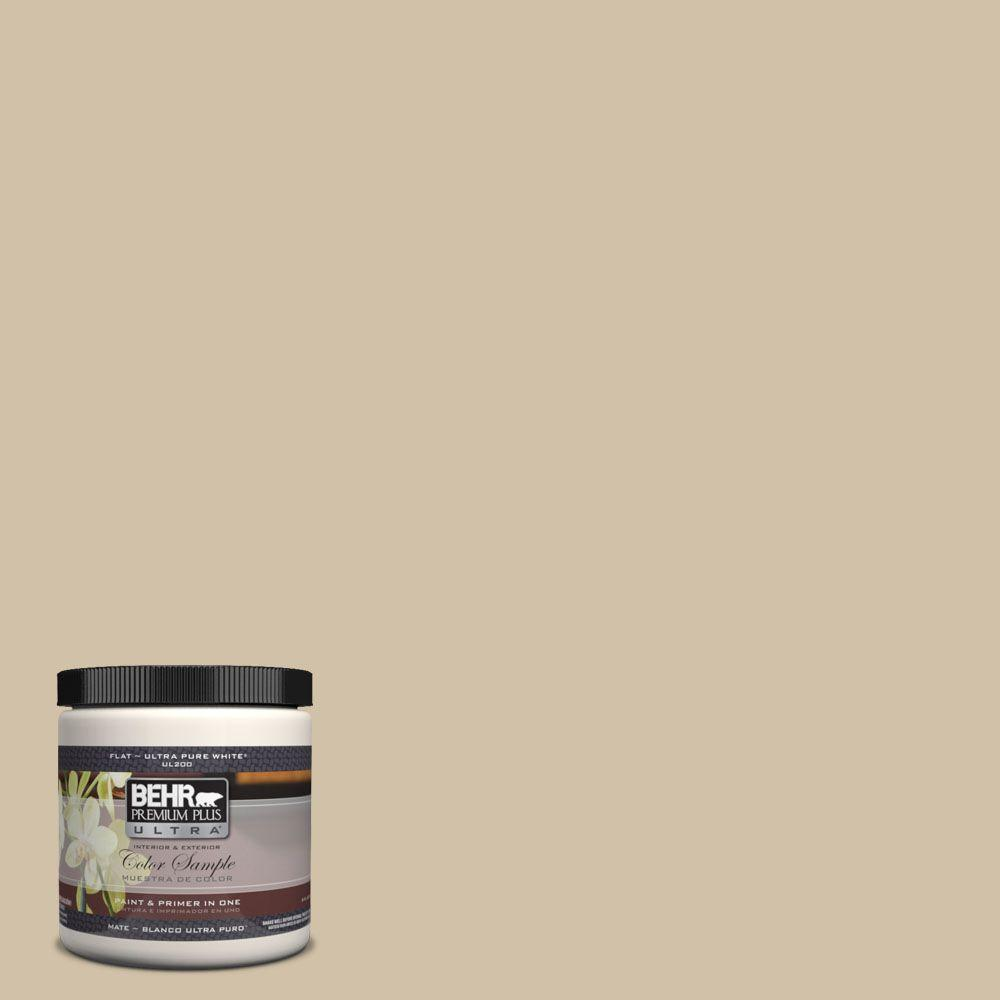 BEHR Premium Plus Ultra 8 oz. #UL160-17 Baja Flat Interior/Exterior Paint and Primer in One Sample