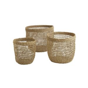 Reid Natural Seagrass Baskets (Set of 3)