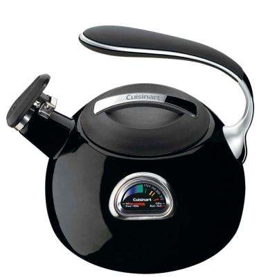 PerfecTemp 12-Cup Stovetop Tea Kettle in Black