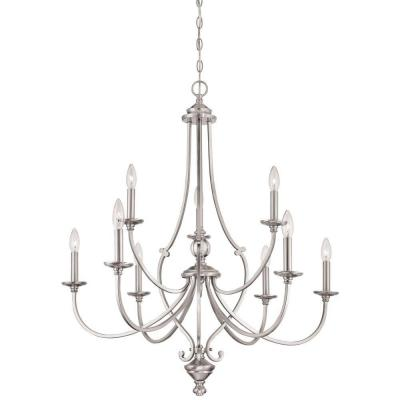 Savannah Row 9-Light Brushed Nickel Chandelier