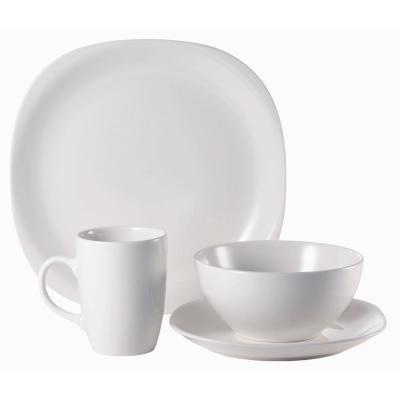 16-Piece Quadro Stoneware Dinnerware Set (Service for 4)