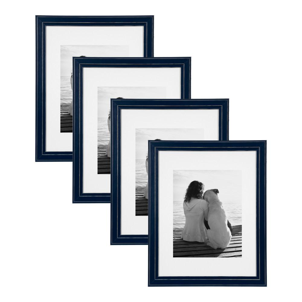 Designovation Kieva 11x14 Matted To 8x10 Navy Blue Picture Frame