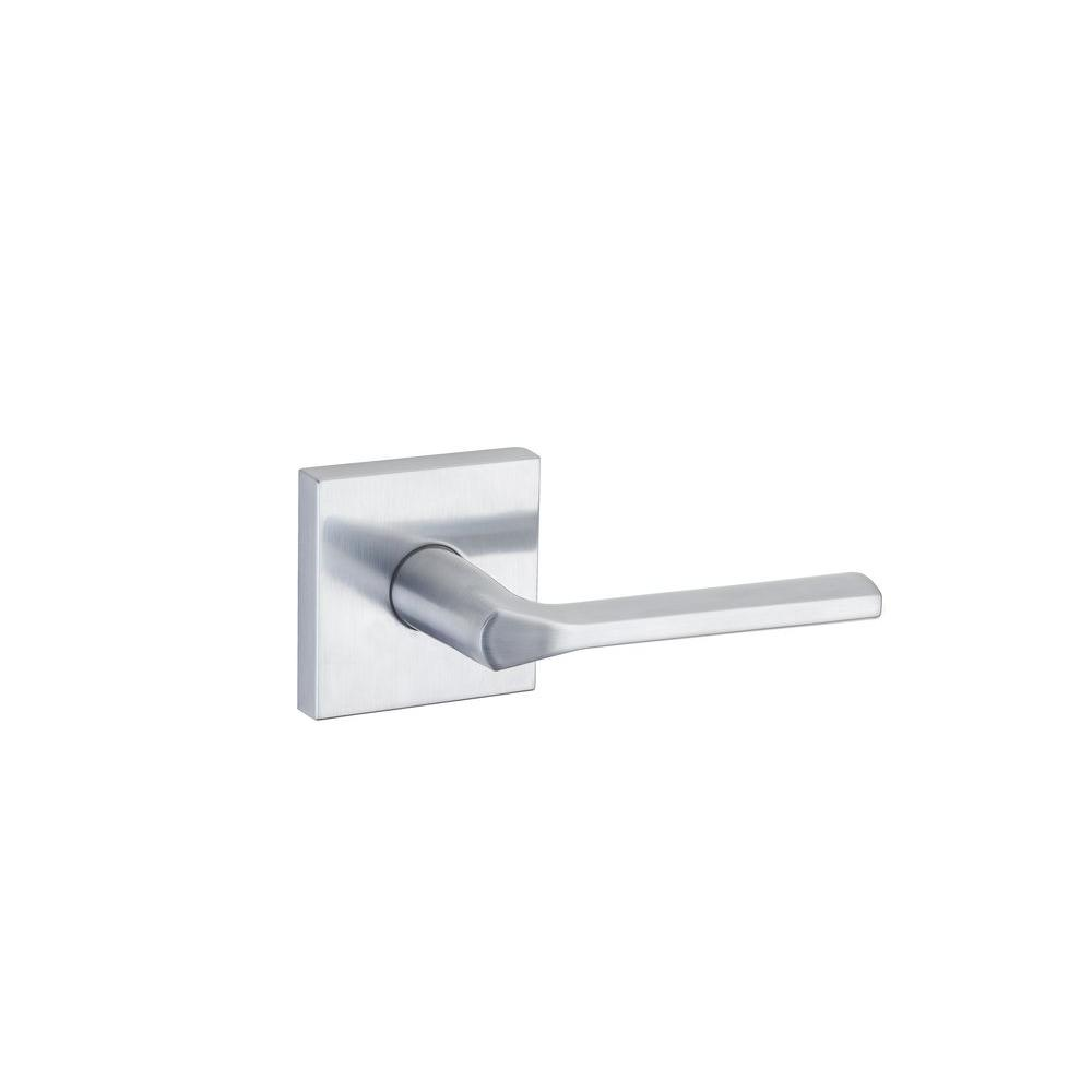 Lisbon Satin Chrome Square Hall/Closet Lever