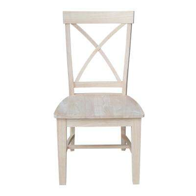 Ready to Finish Tall X Back Dining Chair (Set of 2)