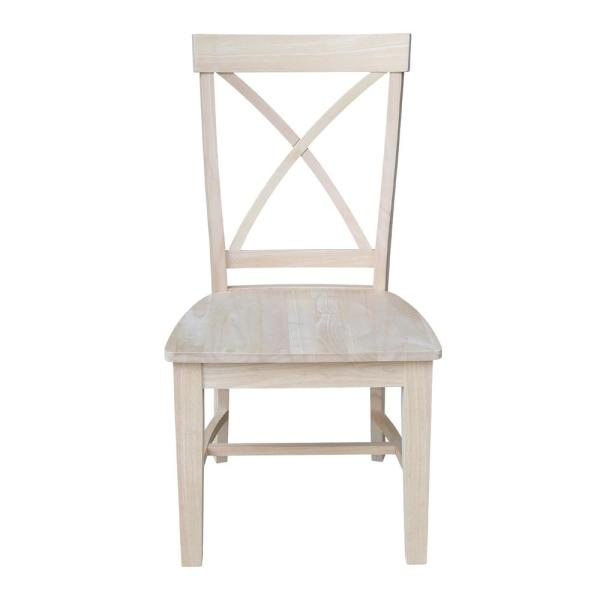 International Concepts Ready to Finish Tall X Back Dining Chair (Set