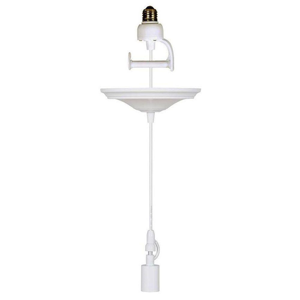 Home Decorators Collection 8 In White Pendant Adapter For Lamp Shades With Conversion Kit