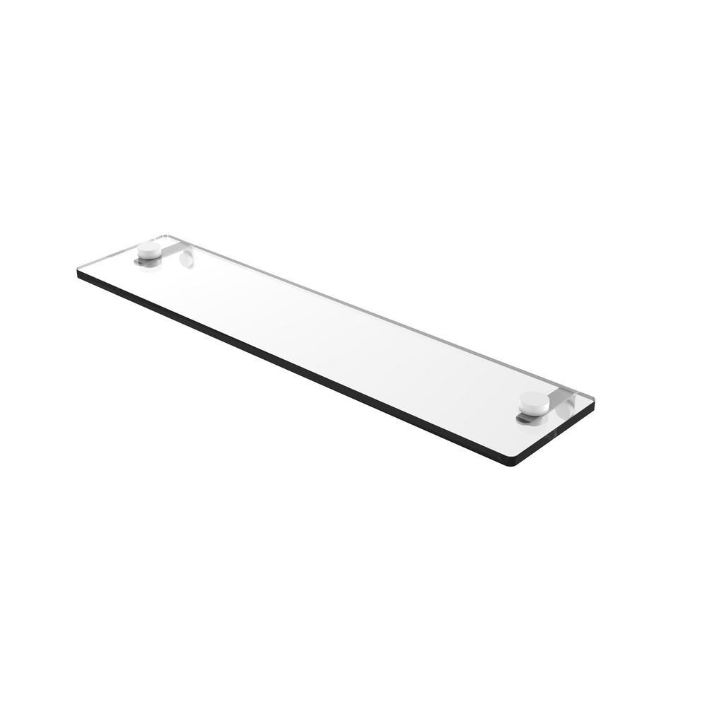Allied Brass FT-1//22-SCH Foxtrot 22 Inch Glass Vanity Shelf with Beveled Edges 22-Inch Satin Chrome