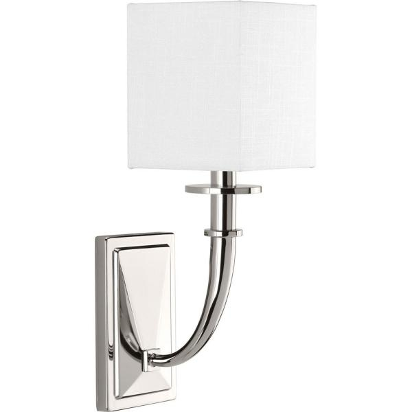 Avana Collection 1-Light Polished Nickel Wall Sconce