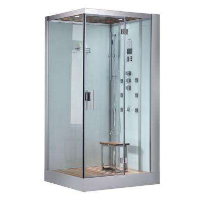 47 in. x 35.4 in. x 89 in. Steam Shower Enclosure Kit in White