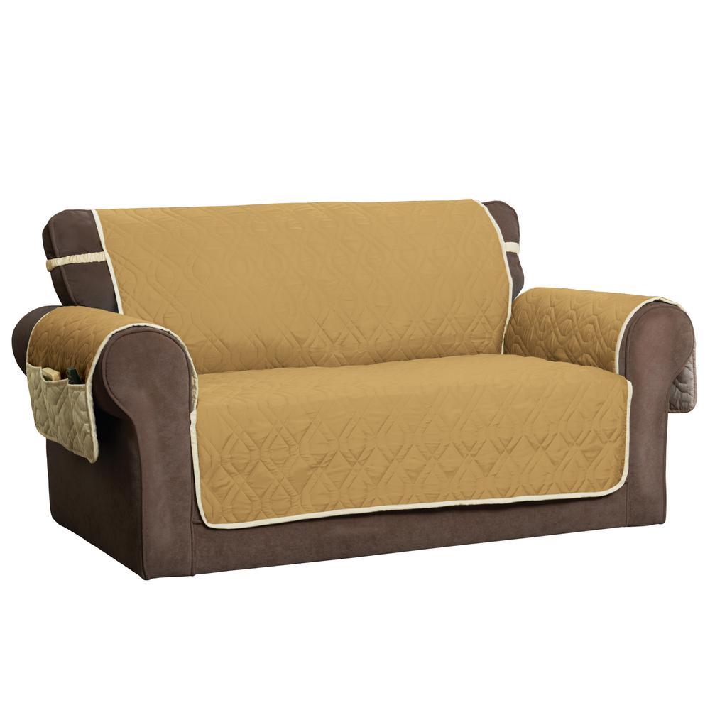 Pleasant Innovative Textile Solutions 5 Star Gold Loveseat Protector Machost Co Dining Chair Design Ideas Machostcouk