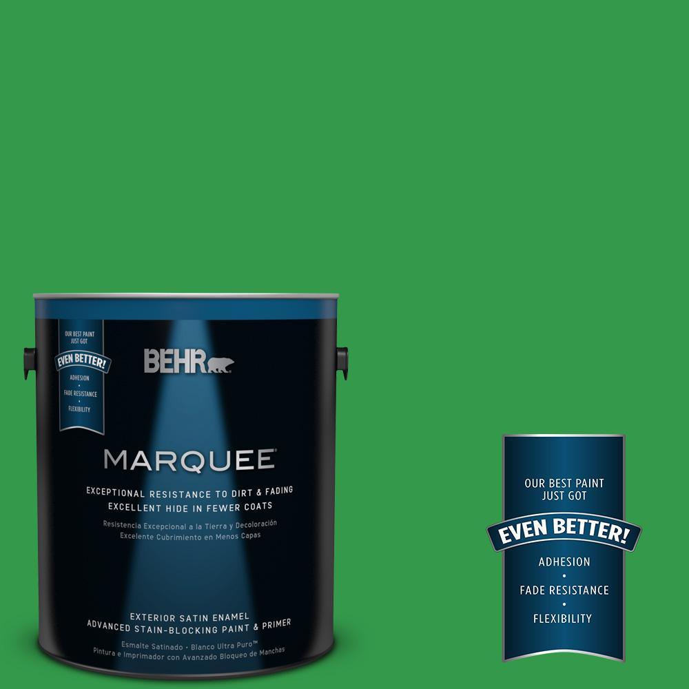 BEHR MARQUEE 1-gal. #450B-6 Formal Garden Satin Enamel Exterior Paint