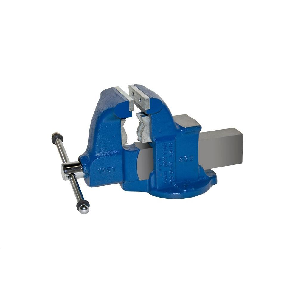 4-1/2 in. Heavy-Duty Combination Pipe and Bench Vise - Stationary Base