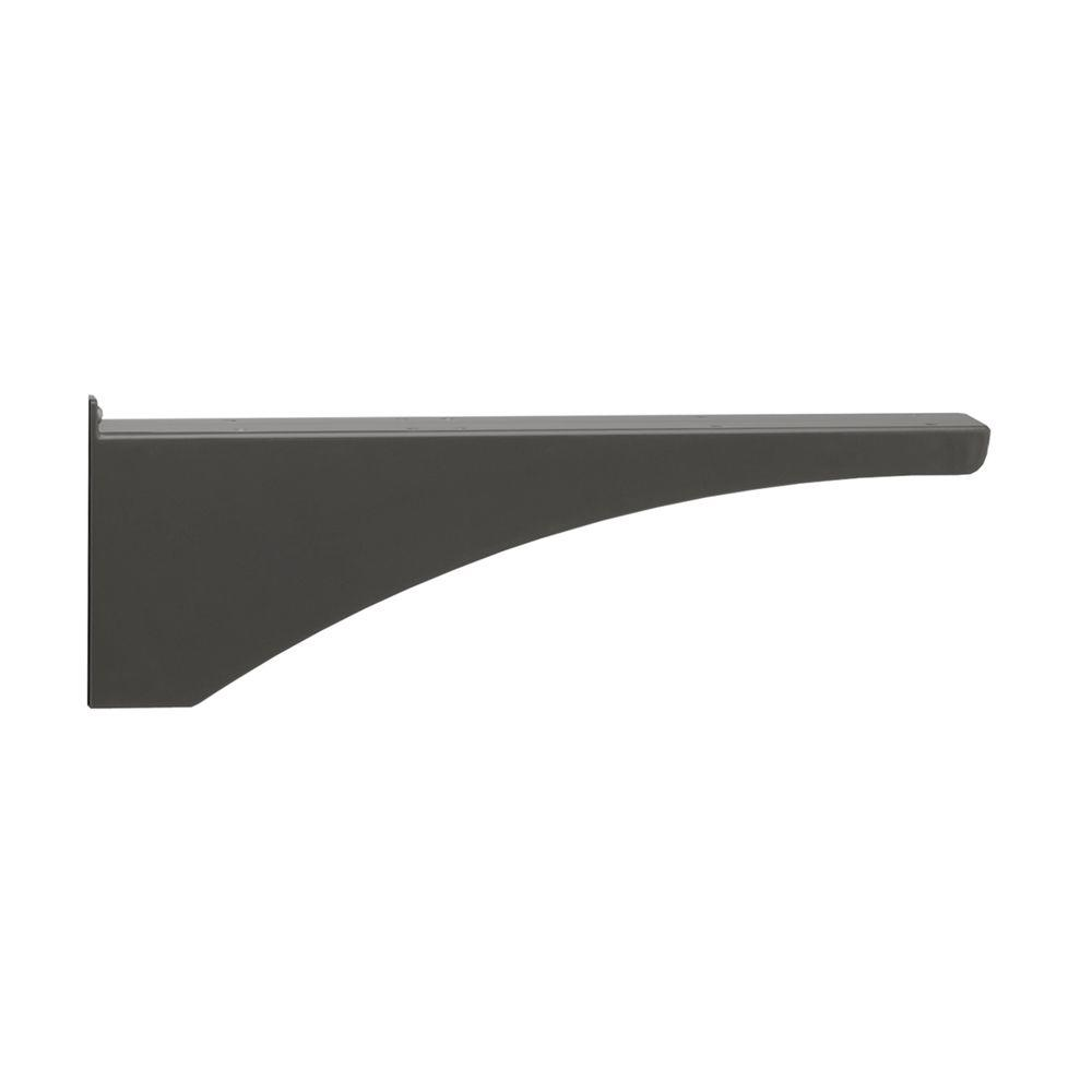 Architectural Mailboxes Decorative Black Aluminum Post Support Bracket