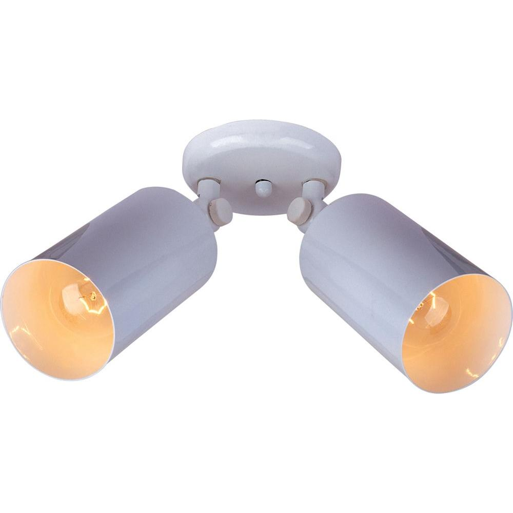 Maxim Lighting Spots 2-Light White Flushmount