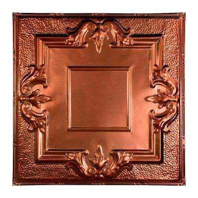Niagara 2 ft. x 2 ft. Nail-up Tin Ceiling Tile in Vintage Bronze