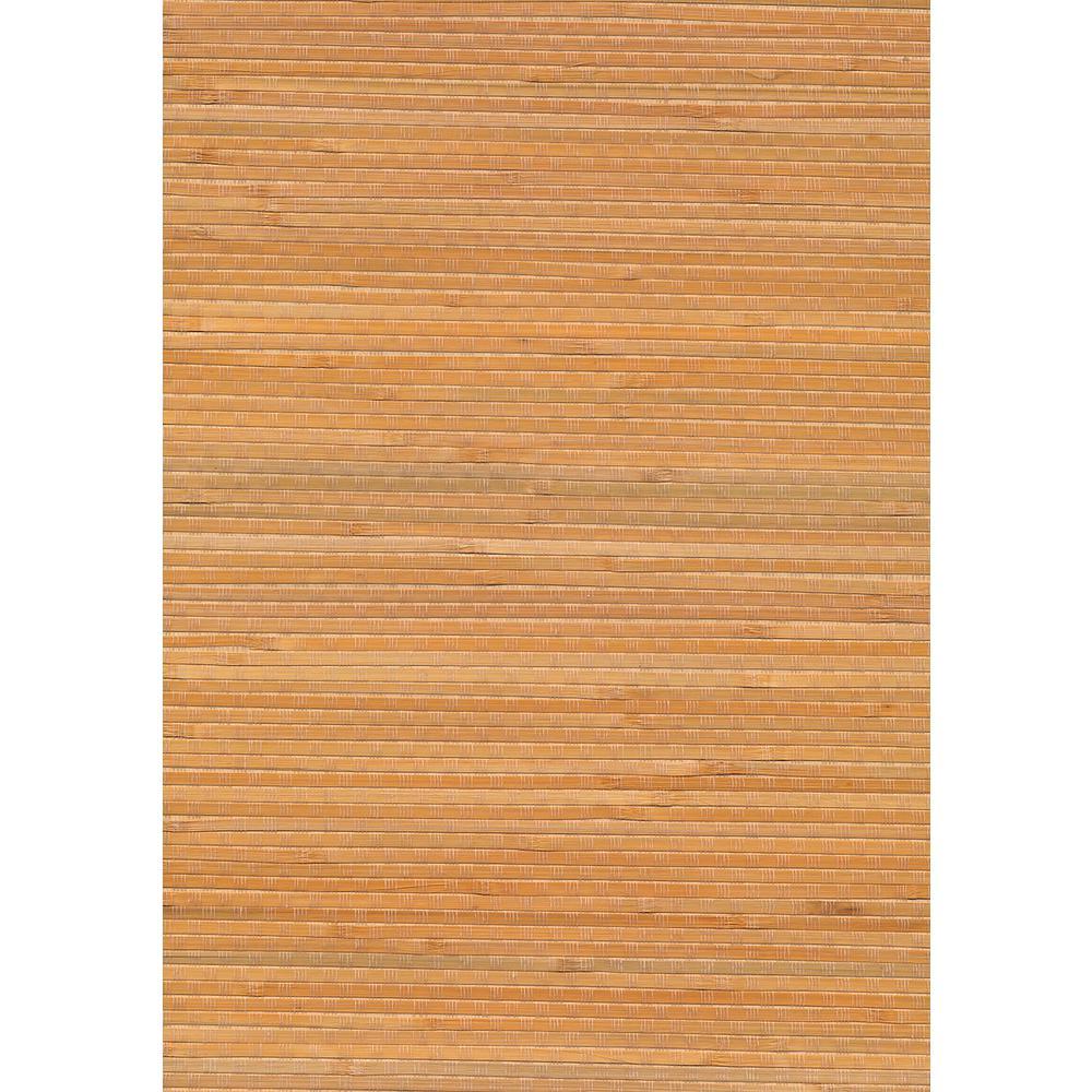 Kenneth James 72 sq. ft. Hiroto Beige Grasscloth Wallpaper 53-65423