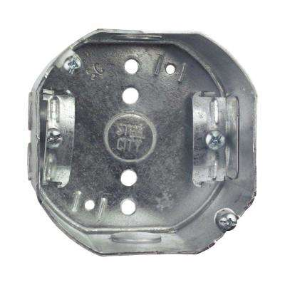 4 in. 2-1/8 in. Deep New Work Metal Octagon Electrical Box with NM Cable Clamp (Case of 25)