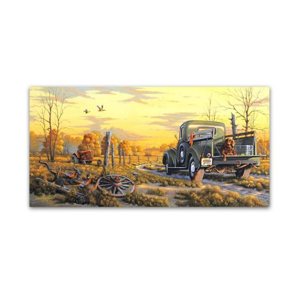 12 in. x 24 in. First Glimpse by Geno Peoples Floater Frame Country Wall Art
