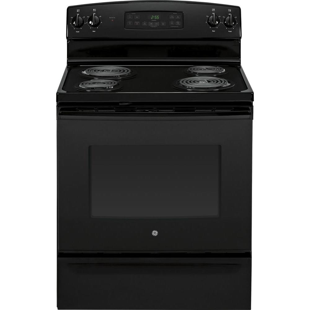 5.0 cu. ft. Electric Range with Self-Cleaning Oven in Black