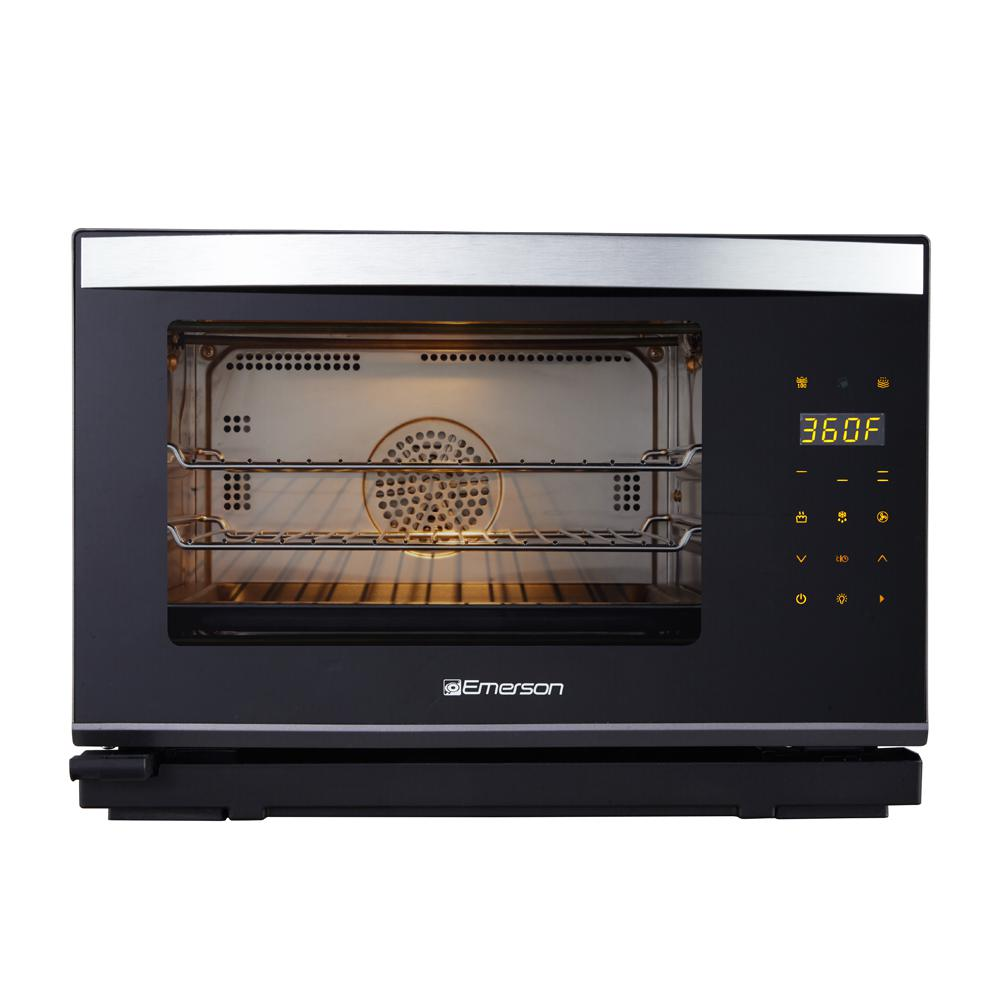 Deluxe 0.9 cu. ft. 6-Slice, Black and Stainless Steel, Steam Oven