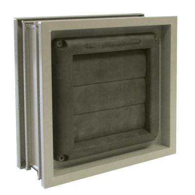 8 in. x 8 in. Glass Block Dryer Vent in Clay for 3 in. Glass Block Applications