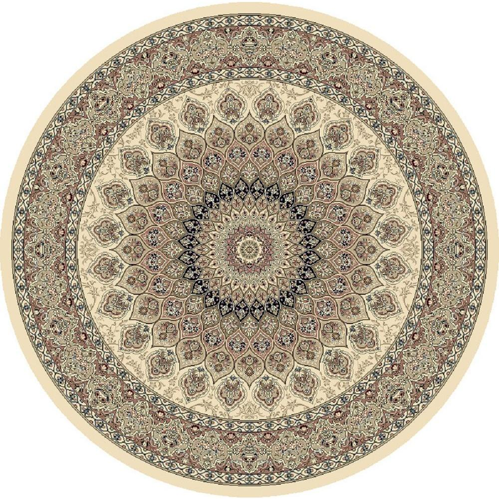 Lawrence Ivory 8 ft. Round Indoor Area Rug