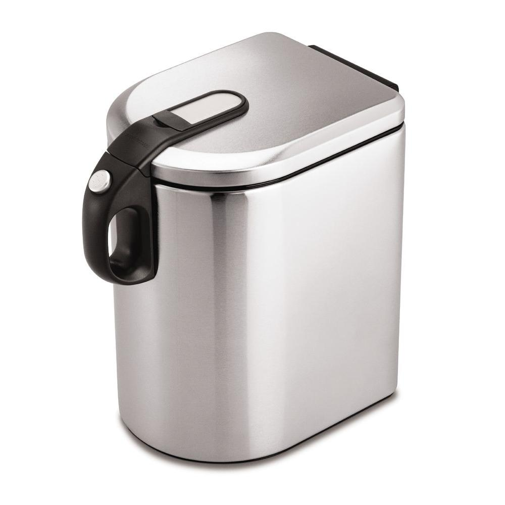 simplehuman Large Airtight Food Storage Canister in Fingerprint-Proof Brushed Stainless Steel-DISCONTINUED