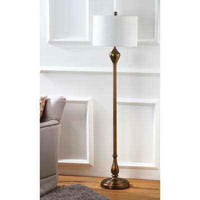 Xenia 60.5 in. Gold Floor Lamp with Off-White Shade
