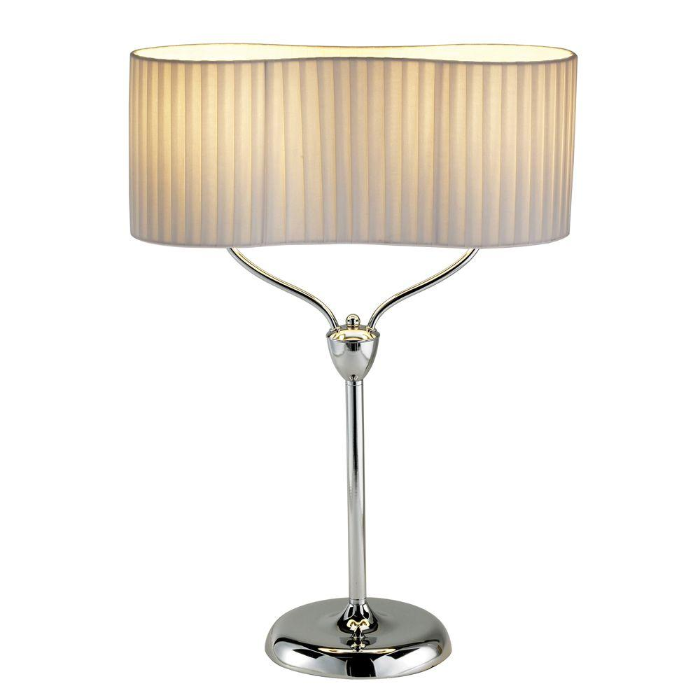 Infinity 26 in. Polished/Bright Nickel/Chrome Table Lamp