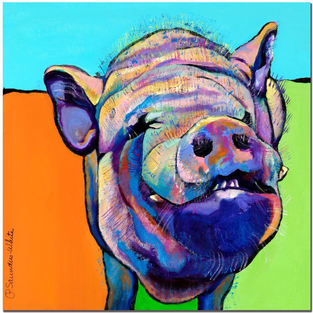 Trademark Fine Art 14 in. x 14 in. Grunt Canvas Art