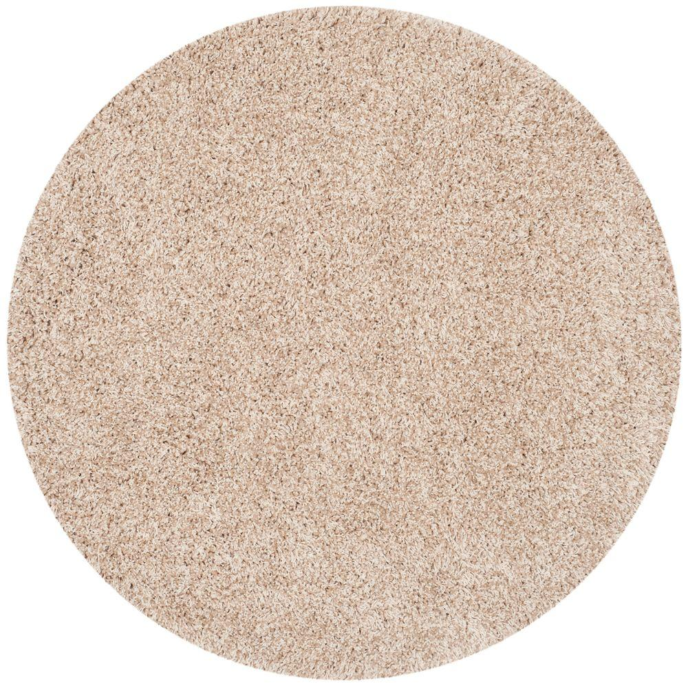 Safavieh California Shag Beige 4 Ft X 4 Ft Round Area