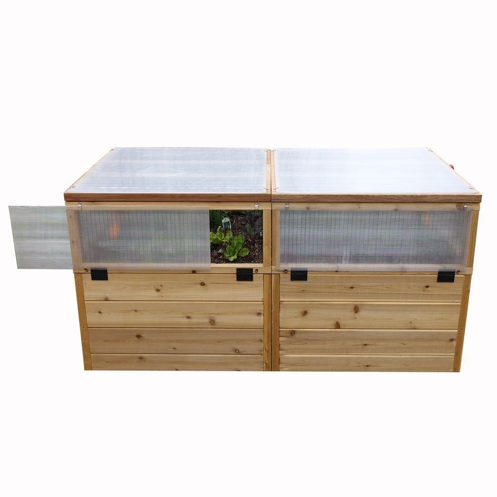 Outdoor Living Today 6 Ft. X 3 Ft. Garden In A Box With Greenhouse