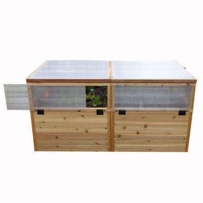 6 ft. x 3 ft. Garden in a Box with Greenhouse Kit