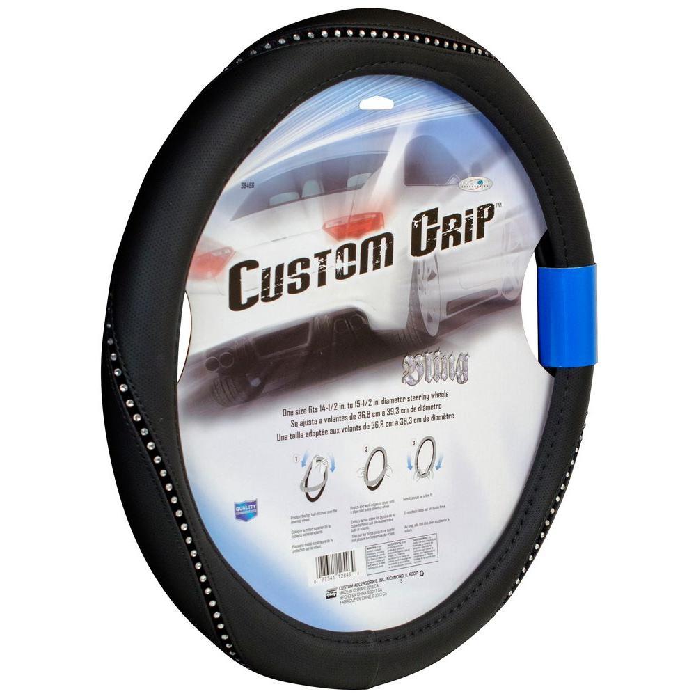 Rope Bling Steering Wheel Cover In Black