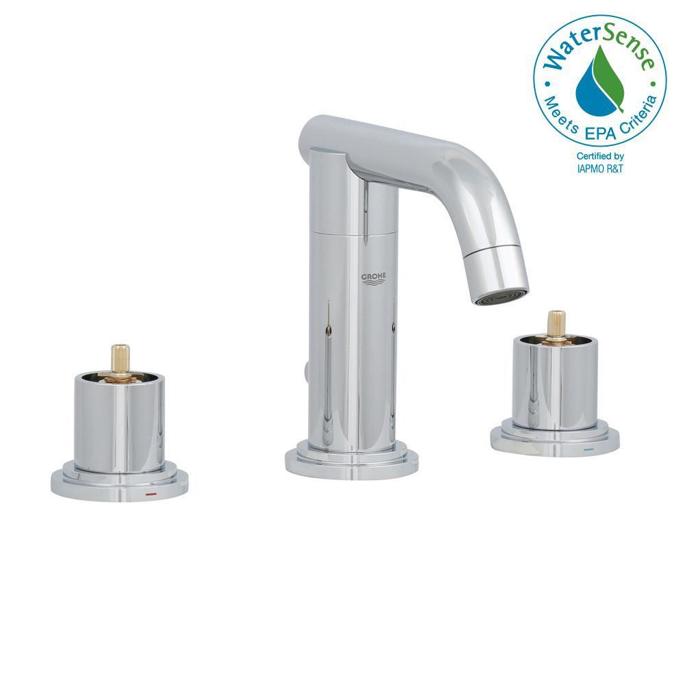 GROHE Atrio 8 in. Widespread 2-Handle Low-Arc Bathroom Faucet in ...