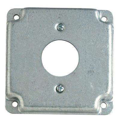 4 in. Square Box Surface Cover Single Duplex Receptacle (Case of 10)