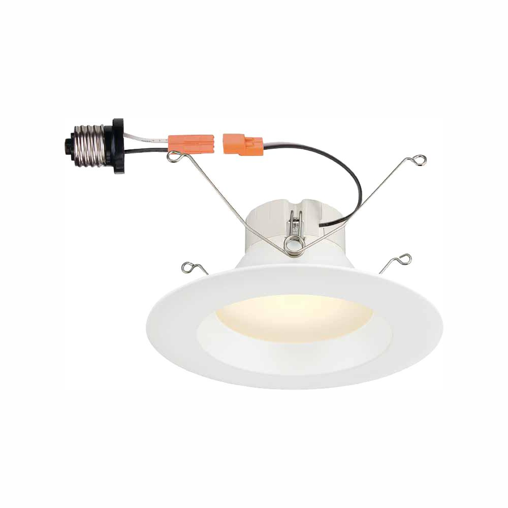 Commercial Electric 5 In And 6 White Integrated Led High Lumen Recessed Trim